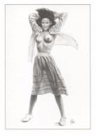 Aslan  Erotic Risque Postcard - Sexy Nude Nº 45 Valerie, Limited Edition - Size: 15x10 Cm. Aprox. - Aslan