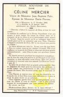 DP Céline Mercier ° Mouscron Moeskroen 1868 † 1947 X JB. Fuhr Xx E. Fierens - Images Religieuses