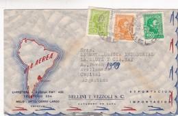 BELLINI Y VEZZOLI SC-AIRMAIL CIRCULEE A BUENOS AIRES YEAR 1974 - BLEUP - Uruguay