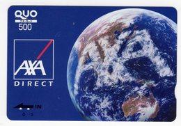 JAPON CARTE QUO PREPAYE AXA - Publicité