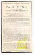 DP Student Paul Menu / Dondeyne 11j. ° Poperinge 1930 † College Moeskroen 1942 - Images Religieuses