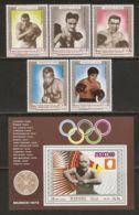 Manama 1969 Mi# H 152-M 152, Block B 33 A ** MNH - Famous Athletes: Boxing / Summer Olympics, Mexico '68 - Zomer 1968: Mexico-City