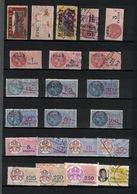 LOT DE 22 TIMBRES FISCAUX OBLITERES, TOGO, ANCIENS ET MODERNES, RARES A LA VENTE. - Togo (1960-...)