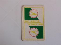 Air Zaire Airlines Portuguese Pocket Calendar In English 1980 - Calendarios