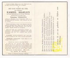 DP Kamiel Marlein ° Bredene 1876 † 1944 X Valentine Versluys / Chaffart Legein Vaneeckhoute Vanhixe Gekiere - Images Religieuses