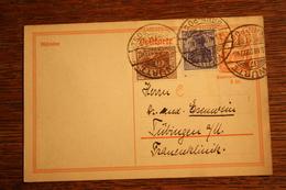 ( 2894 ) Ganzsache Deutsches Reich P  141 I  Mit Zusatzfrankatur  Gelaufen  -   Erhaltung Siehe Bild - Deutschland