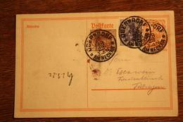 ( 2895 ) Ganzsache Deutsches Reich P  141 I  Mit Zusatzfrankatur  Gelaufen  -   Erhaltung Siehe Bild - Deutschland