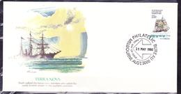 AUSTRALIAN ANTARTIC TERRITORY 1980 FDC COVER SHIPS 22 C. TERRA NOVA - Cartes-maximum