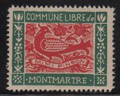 Montmartre - Commune Libre - Mimi Pinson - Commemorative Labels