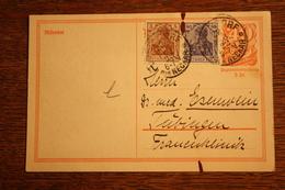 ( 2896 ) Ganzsache Deutsches Reich P  141 I  Mit Zusatzfrankatur  Gelaufen  -   Erhaltung Siehe Bild - Deutschland