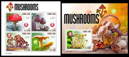 SIERRA LEONE 2019 - Mushrooms. M/S + S/S Official Issue. - Paddestoelen