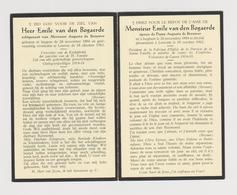 DOODSPRENTJE Van Den BOGAERDE EMILE ECHTGENOOT De BROUWER IZEGEM LEUVEN (1884 - 1962) OORLOGSVRIJWILLIGER 1914-1918 - Images Religieuses