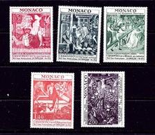 Monaco 855-59 MNH 1972 Historic Monuments - Monaco