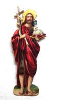 PETIT CHROMO DECOUPI...IMAGE  RELIGIEUSE..... H : 8  Cm..   SAINT JEAN BAPTISTE - Découpis