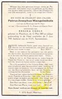 DP Petrus J. Mangelschots ° Meerhout 1885 † 1949 X Regina Cools - Images Religieuses