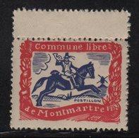 Montmartre - Commune Libre - Postillon - Erinnophilie