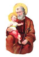 CHROMO DECOUPI...IMAGE  RELIGIEUSE..... H : 8  Cm..   SAINT JOSEPH - Découpis
