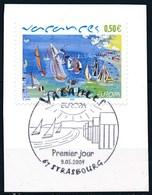 France - Europa 2004 Les Vacances - Oeuvre De Raoul Dufy YT 3668 Obl. 1er Jour Sur Fragment - France