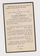 DOODSPRENTJE BEYLS CLARA ECHTGENOTE COMMENNE GEORGES AMOUGIES GENT (1872 - 1931) - Images Religieuses
