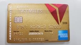 USA - CREDIT CARD - AMERICAN EXPRESS - GOLD - DELTA SKYMILES - EXPIRED - SEE SCANS - Geldkarten (Ablauf Min. 10 Jahre)