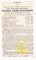 DP Z EZ Rachel Mahieu - Moeder Overste Zr. Marguerite ° Poperinge 1873 † Klooster Zrs. Benedictinessen 1946 - Images Religieuses