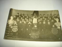 RARE CPA PHOTO !! LEUZE EN HAINAUT ( TOURNAI ATH ) - HOMMAGE A L'AMERIQUE WW1 1914 1918 ( PENSIONNAT ST FRANCOIS ) - Leuze-en-Hainaut