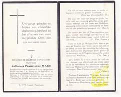 DP Julianus F. Maes ° Meerhout 1857 † 1949 - Images Religieuses