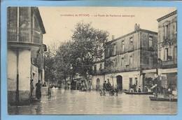 Inondations De Béziers 34 Route De Narbonne 2scans 16e Corps D'Armée Hôpital Temporaire N°29 Béziers Médecin Chef Café - Beziers
