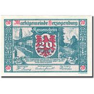 Billet, Autriche, Herzogenburg, 20 Heller, Blason, 1920 SPL Mehl:FS 367 - Autriche
