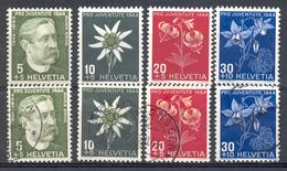 LIQUIDATION TOTALE : 1944- ZU 109/112 - Mi 439/442 - Yv 399/402 ** (MNH) Et OBLITERES - Suisse
