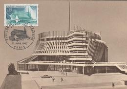 Carte Maximum 1967 - PAVILLON DE LA FRANCE- MONTREAL - YT 1519 - 1960-69