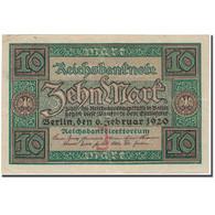 Billet, Allemagne, 10 Mark, 1920, KM:67a, SUP - [ 3] 1918-1933 : Weimar Republic