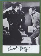 ERNEST BORGNINE Original In Person Signed Glossy Photo AUTOGRAPHE / AUTOGRAMM  13/18 Cm - Autographs