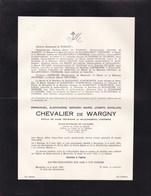 BLAESVELT MALINES Emmanuel Chevalier De WARGNY époux De MALEINGREAU D'HEMBISE  1894-1955 - Décès