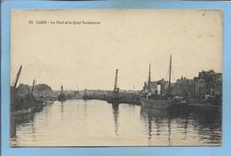 """Caen Port & Quai Vendeuvre 2scans 1917 """"Dépôt Des Prisonniers De Guerre De Caen Annexe De La Gare Chef De Détachement"""" - Caen"""