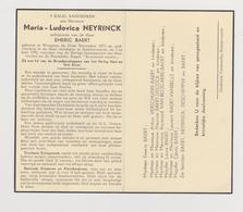 DOODSPRENTJE NEYRINCK MARIA ECHTGENOTE BAERT WINGENE RUDDERVOORDE (1873 - 1952) - Images Religieuses