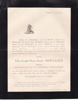 STAVELOT AMPSIN Félix DEWALQUE Ingénieur Ancien Directeur De La Vieille-Montagne à BRUY-LA France  1828-1893 - Décès