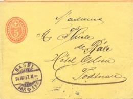 Switzerland 1897 Postal Stationery Wrapper 5 C. From Basel - Interi Postali