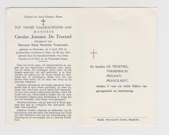 DOODSPRENTJE DE TROETSEL CAROLUS ECHTGENOOT VERMEERSCH MOERZEKE GENT (1904 - 1966) - Images Religieuses