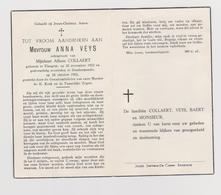DOODSPRENTJE VEYS ANNA ECHTGENOTE COLLAERT ELSEGEM DENDERMONDE (1922 - 1962) - Images Religieuses