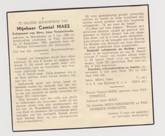 DOODSPRENTJE MAES CAMIEL ECHTGENOOT VANDENHEEDE MEULEBEKE TIELT (1896 - 1955) - Images Religieuses