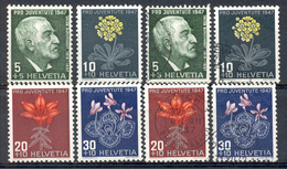 LIQUIDATION TOTALE : 1947 - Zu N° 121/124 - Mi N° 488/491 - Yv N° 445/448 - ** (MNH) Et Oblitérés (o) - Suisse