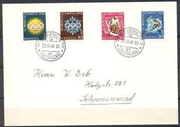 LIQUIDATION TOTALE : 1948 - TRES BELLE LETTRE Avec TRES BEL AFFRANCHISSEMENT -Yvert N° 449 à 452 (SERIE COMPLETE) - Suisse
