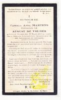 DP Camilla A. Martens ° Drongen 1895 † Gent 1929 X Aug. De Volder - Images Religieuses