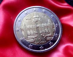 Germany 2 Euro  - G -  Coin 2016  Bimetallic Saxony Dresden Coin CIRCULATED - Deutschland