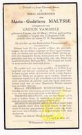 DP Maria G. Malysse ° Kuurne 1915 † Izegem 1939 X Gaston Vandaele - Images Religieuses