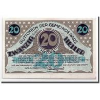 Billet, Autriche, Parz, 20 Heller, Paysage, 1920, 1920-03-14, SPL, Mehl:721b - Autriche