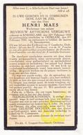 DP Henri Maes ° Knesselare 1868 † Oedelem Beernem 1934 X Arthurine Vergauwe - Images Religieuses
