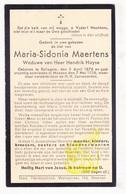 DP Maria S. Maertens ° Rollegem Kortrijk 1876 † Menen Menin 1936 X Hendrik Huyse - Images Religieuses