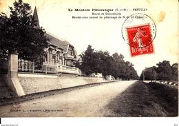 77 . Seine Et Marne . Preuilly : Route De Donnemarie . - Autres Communes